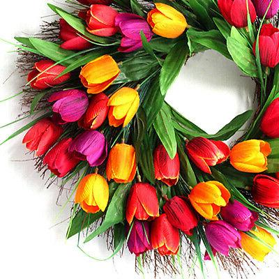 18 garland front door and wall-mounted gift artificial flower: