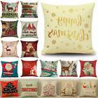 18 x 18 Inch Merry Christmas Xmas Designed Throw Pillow Case
