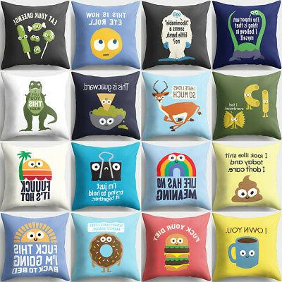 18inch funny cartoon animal pillow case cushion