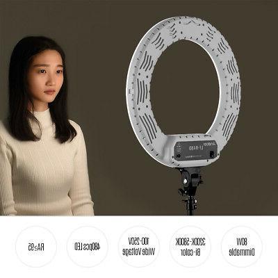 Andoer 18inch LED Video Ring Studio Lighting