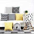 18inch Striped Pattern Decor Cotton Linen Throw Pillow Case