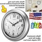 18inch Waterproof Plastic Wall Clock Radio Movement Silvery