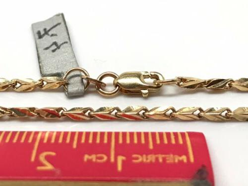 18k Yellow Gold Cut 20 Inches