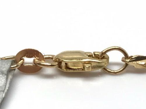 18k Cut Link Necklace 20