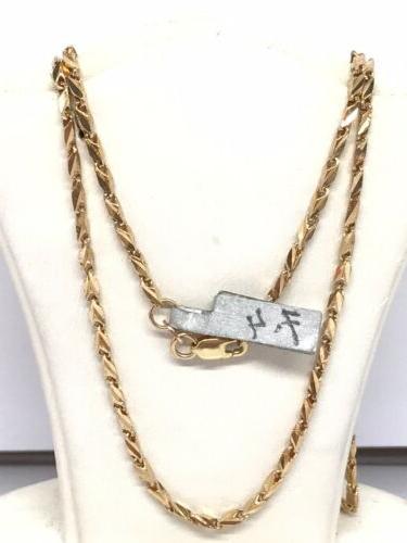 18k yellow gold diamond cut rectangular link