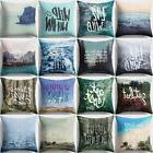 18x18inch Letter Beautiful Scenery Throw Pillow Case Cushion