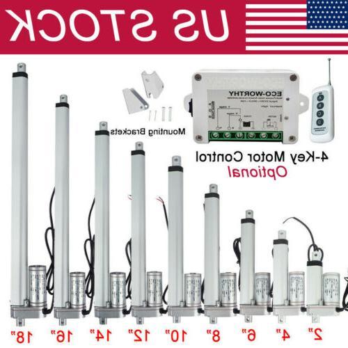 2 18 inch linear actuator 1500n 330lbs