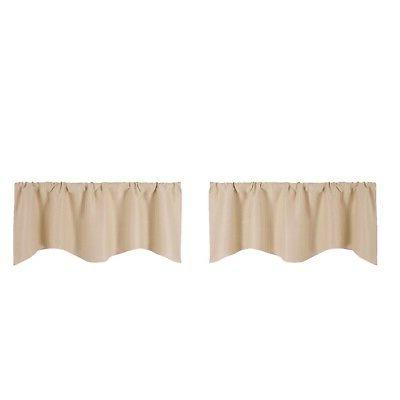 2-pack Decorative Cafe Curtain Kitchen Small Window Valance