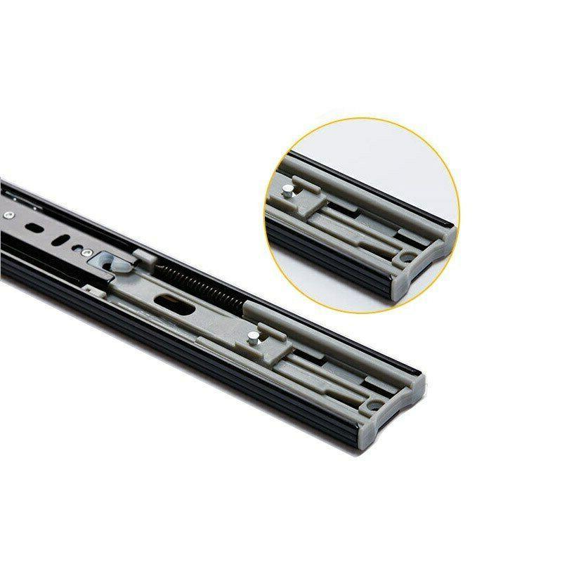 2pcs Metal Mute Slides Close Drawer Rail