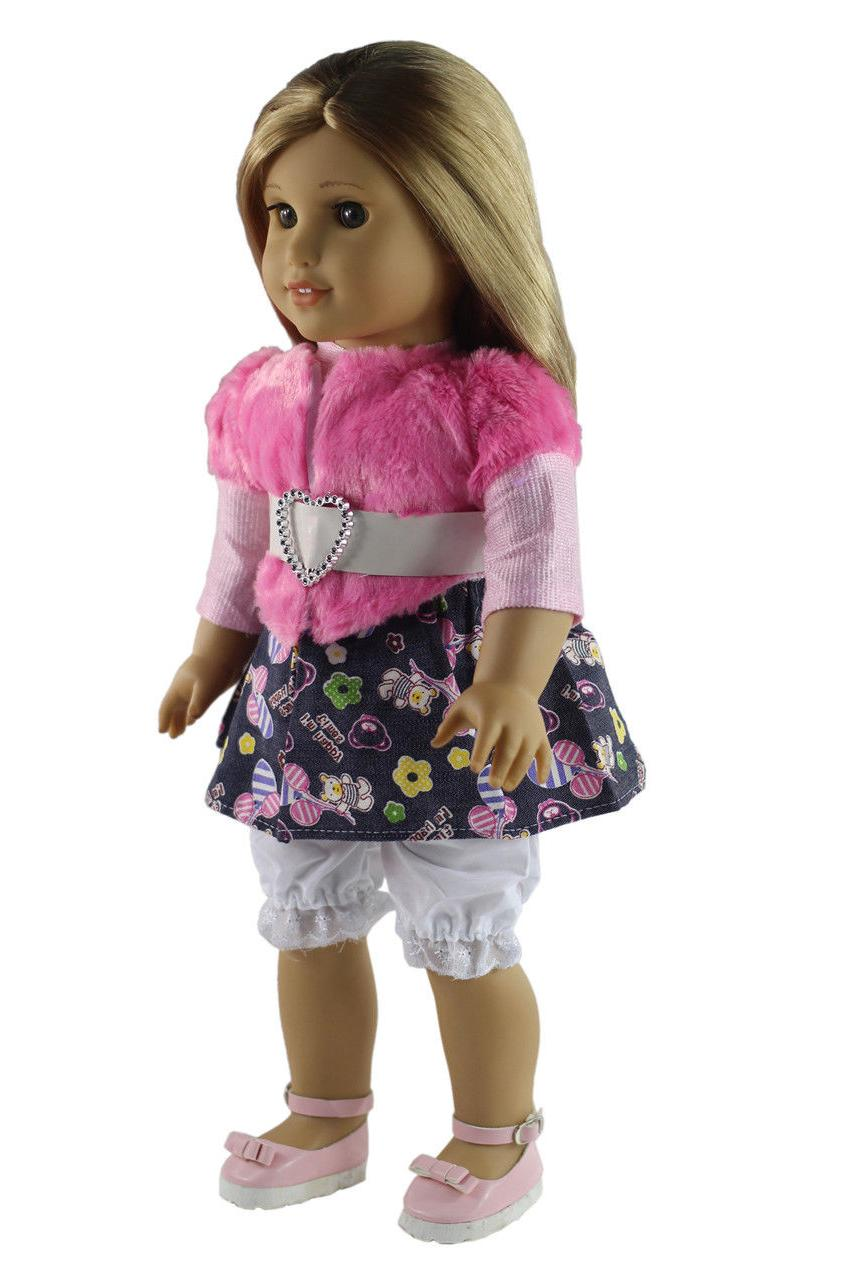 5 Doll Clothes+shoes+bag+Cap for American