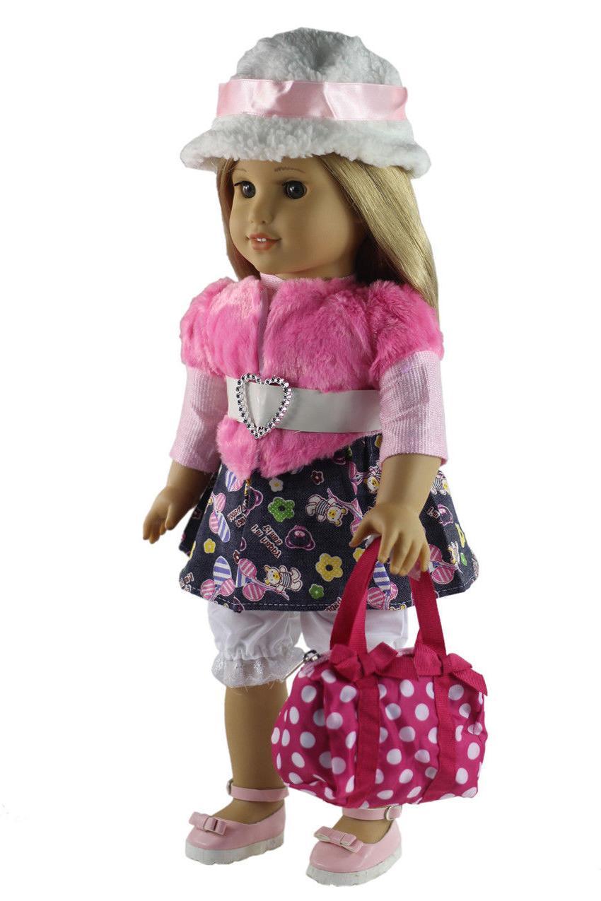 5 PCS Clothes+shoes+bag+Cap 18'' inch American Girl