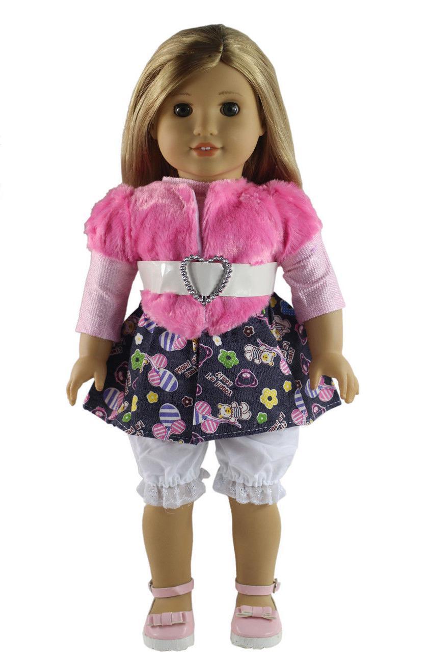 5 Clothes+shoes+bag+Cap American Doll X60