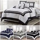 Chezmoi Collection 7 Piece Hotel style Comforter Set Full, Q