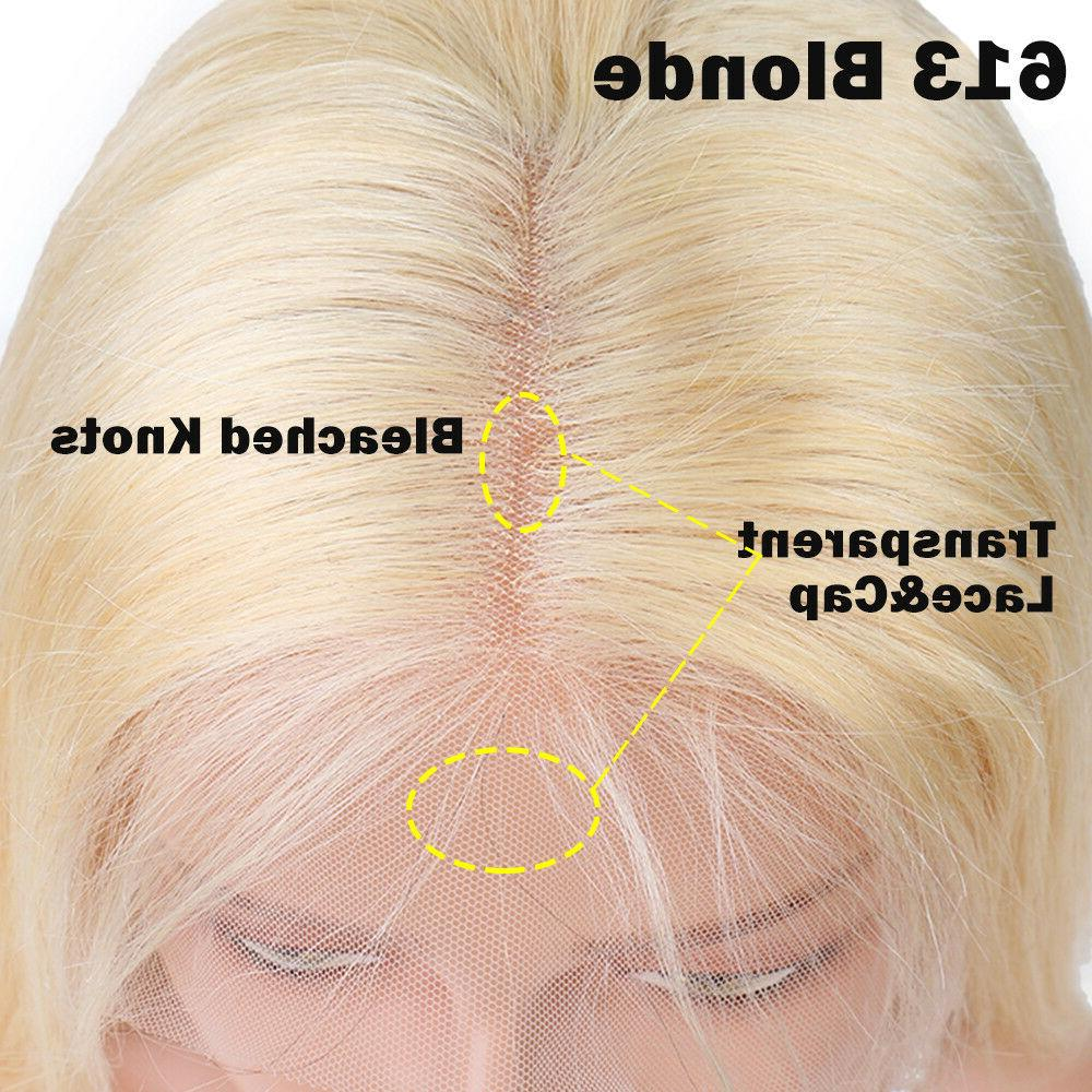8A Real Brazilian Human Front Wig Blonde Wigs