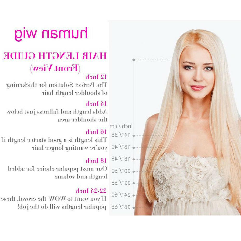8A Real Remy Brazilian Human Hair Front Wig Blonde