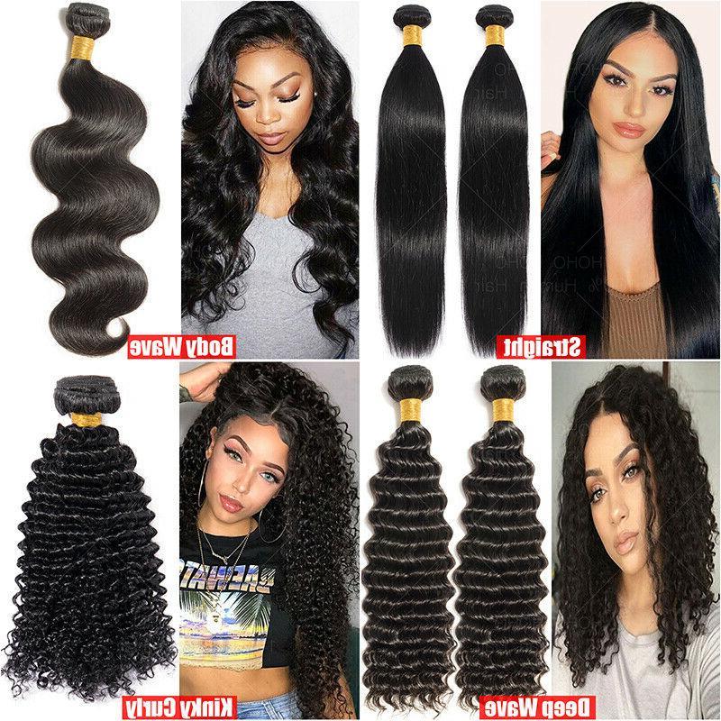 8A Virgin Hair Curly Wave 1-4Bundles Weft