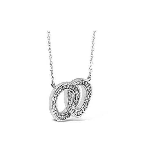 Brilliant Expressions .925 Sterling Circle Conflict Pendant Necklace , 16-18 inch