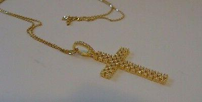 925 STERLING SILVER GOLD PLATED PENDANT W/ ACCENTS/ INCH