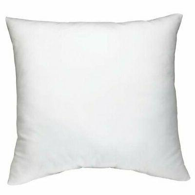 "AK TRADING CO. Square Poly Pillow Insert, 18"" L X 18"" W, Whi"