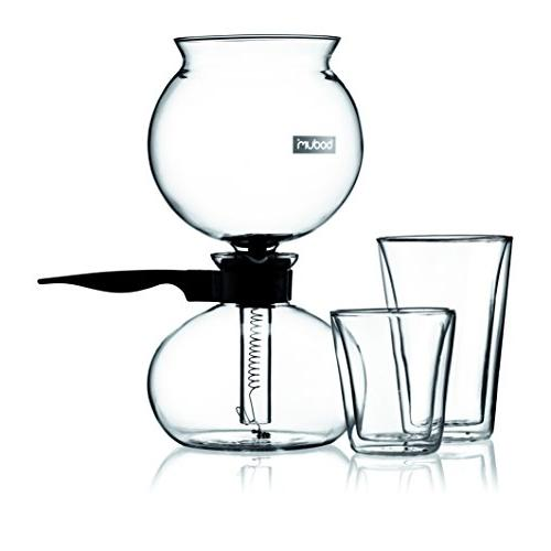 Bodum Coffee Vacuum Maker, Siphon Coffee Brew, Flavor, Black, 8 cup, liter, Ounces