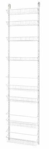 ClosetMaid 1233 Adjustable 8-Tier Wall and Door Rack, 77-Inc