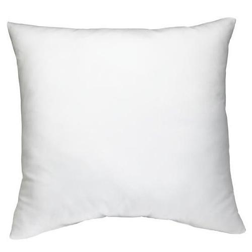 "AK TRADING Square Poly Pillow 18"" L White"