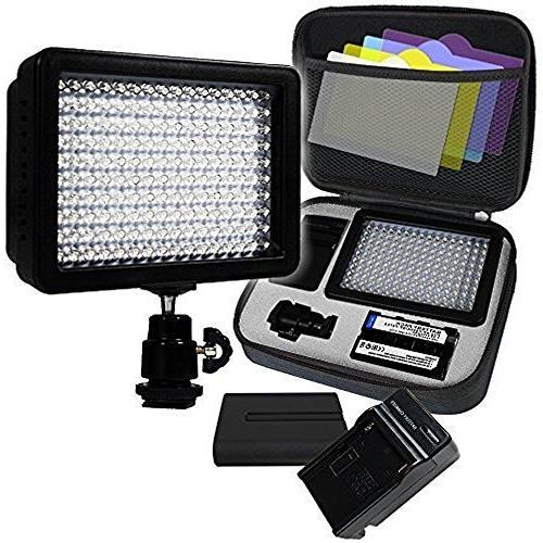 LimoStudio, AGG1318, 160 LED Video Photo Light for Digital D