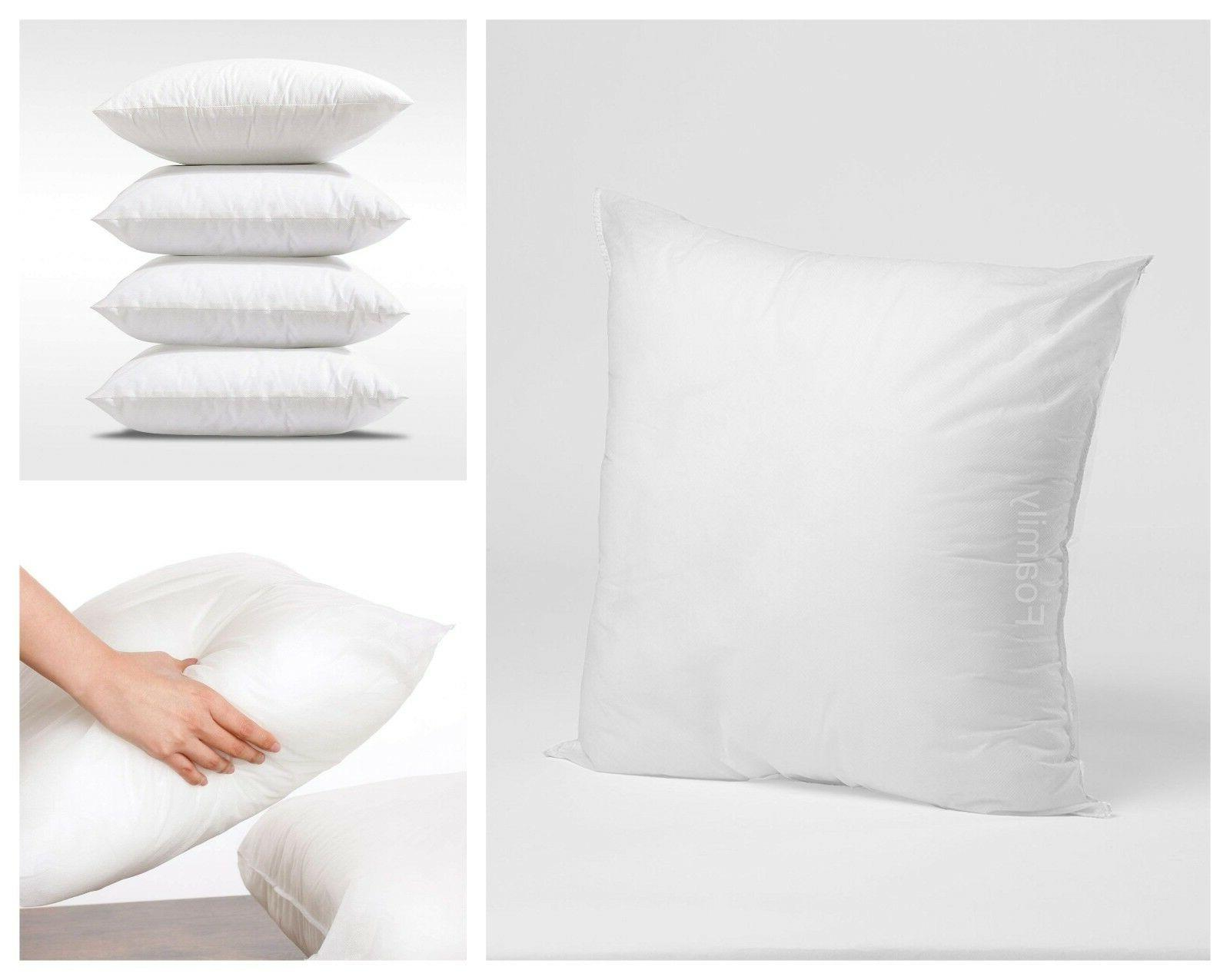 Pillow Throw Insert Soft Pillows Polyester Sham Square 18 In