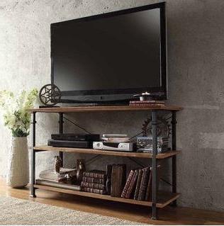 TRIBECCA HOME Myra Vintage Industrial Brown Wood - Iron TV S