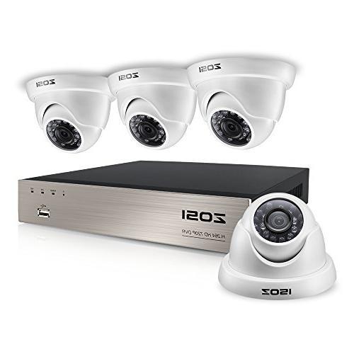 ZOSI 8CH HD-TVI 1080N Video CCTV DVR Security System w/ 4pcs