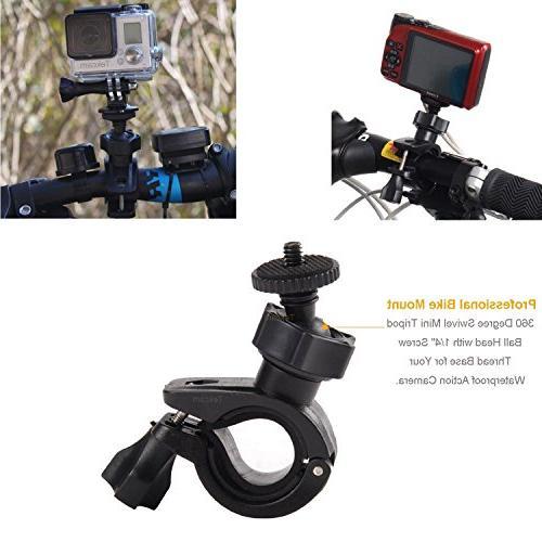 TEKCAM Sport Camera Accessories Kit Gopro Hero AKASO Crosstour/Campark 4K Camera
