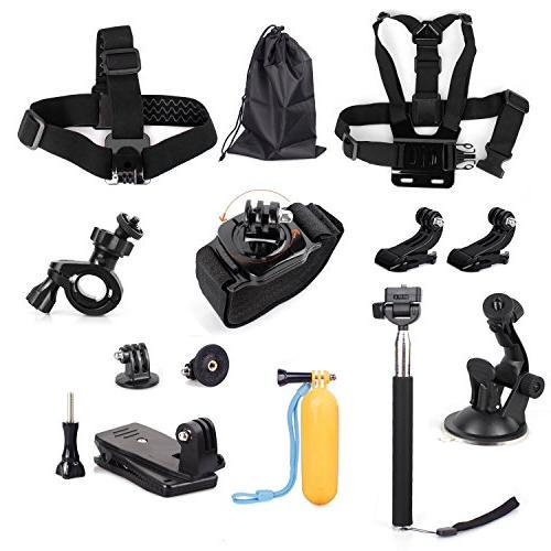 TEKCAM Action Accessories with Gopro Hero 7/ AKASO EK7000 V50/ Crosstour/Campark 4K Waterproof Camera