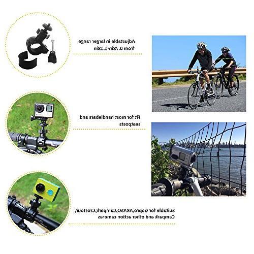 TEKCAM Camera Mount Holder 360 Rotatable Bar Handlebar Bracket Compatible Gopro 6 4K Camera