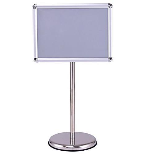 adjustable pedestal poster stand aluminum