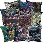 ah2 cotton cushion cover black abstract throw