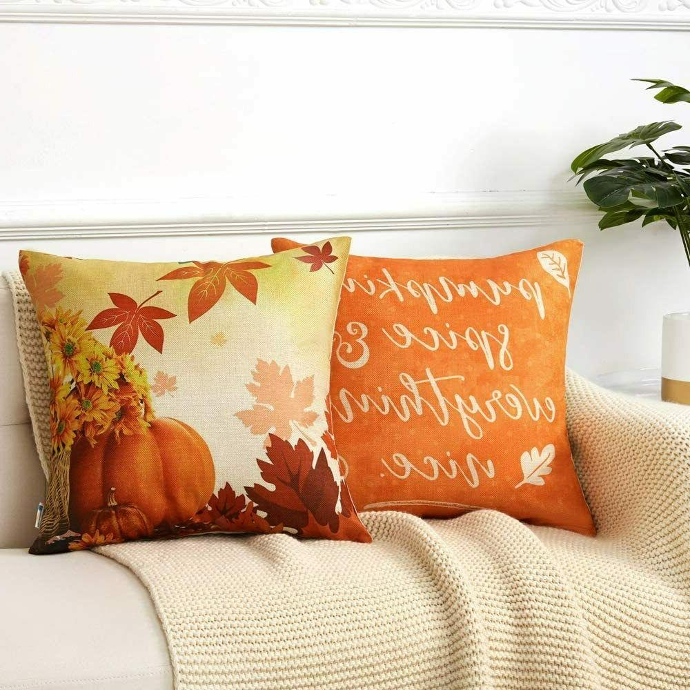 Anickal Pillow 18x18 Inch Decor 4 Autumn Harvest