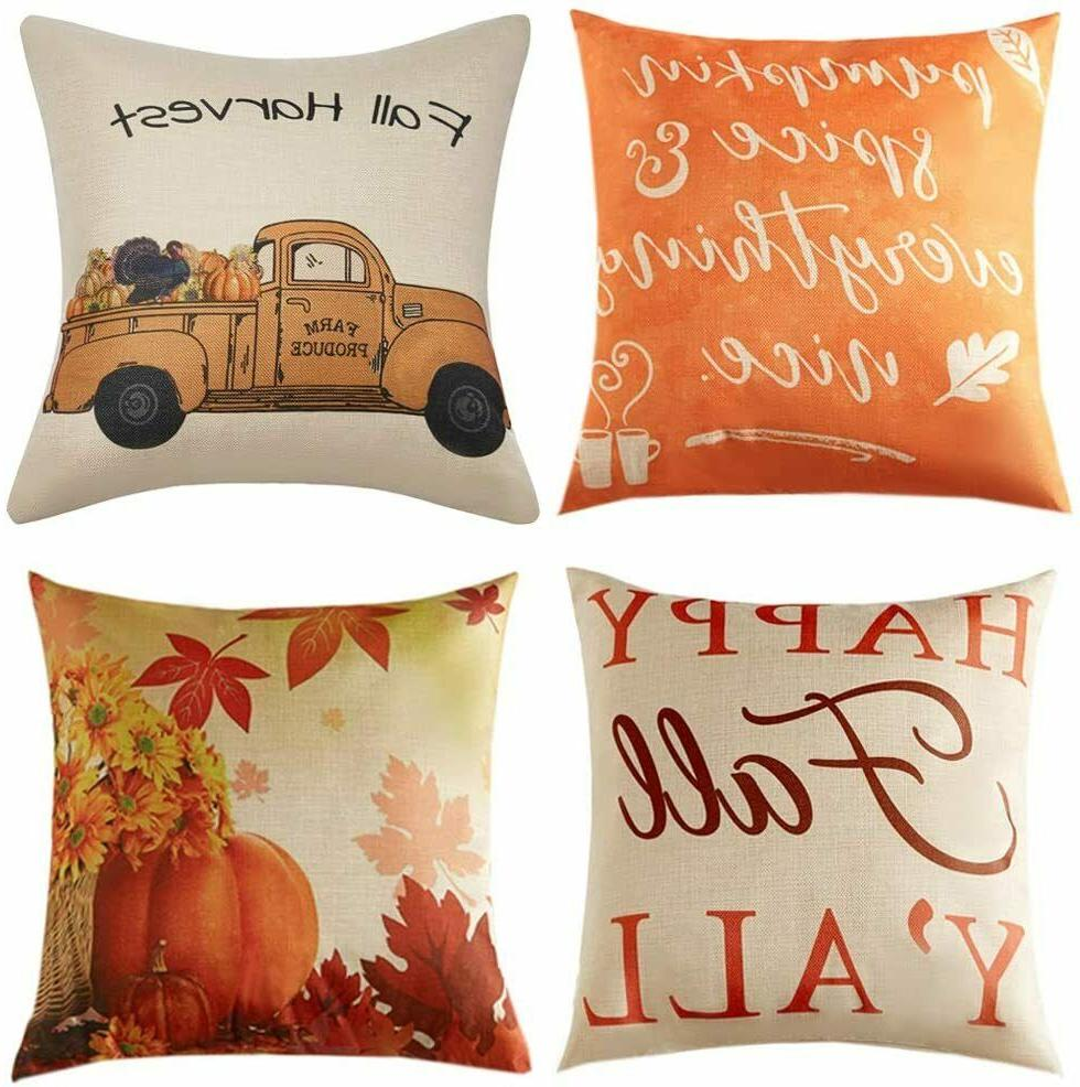 anickal fall pillow covers 18x18 inch