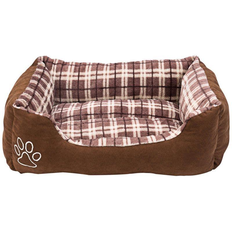 animals favorite rectangle pet bed checkered