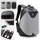 Anti- theft Men USB Customs Lock Smart Backpack School Trave
