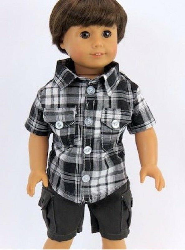 Black Shorts Set for 18 inch Doll Clothes American Girl or B