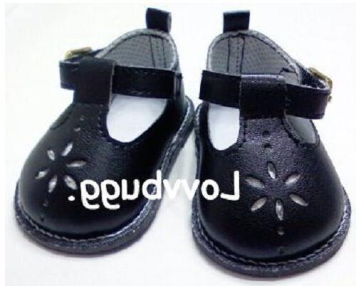 Black T-Strap Mary Janes for 18 inch Doll Shoes American Gir