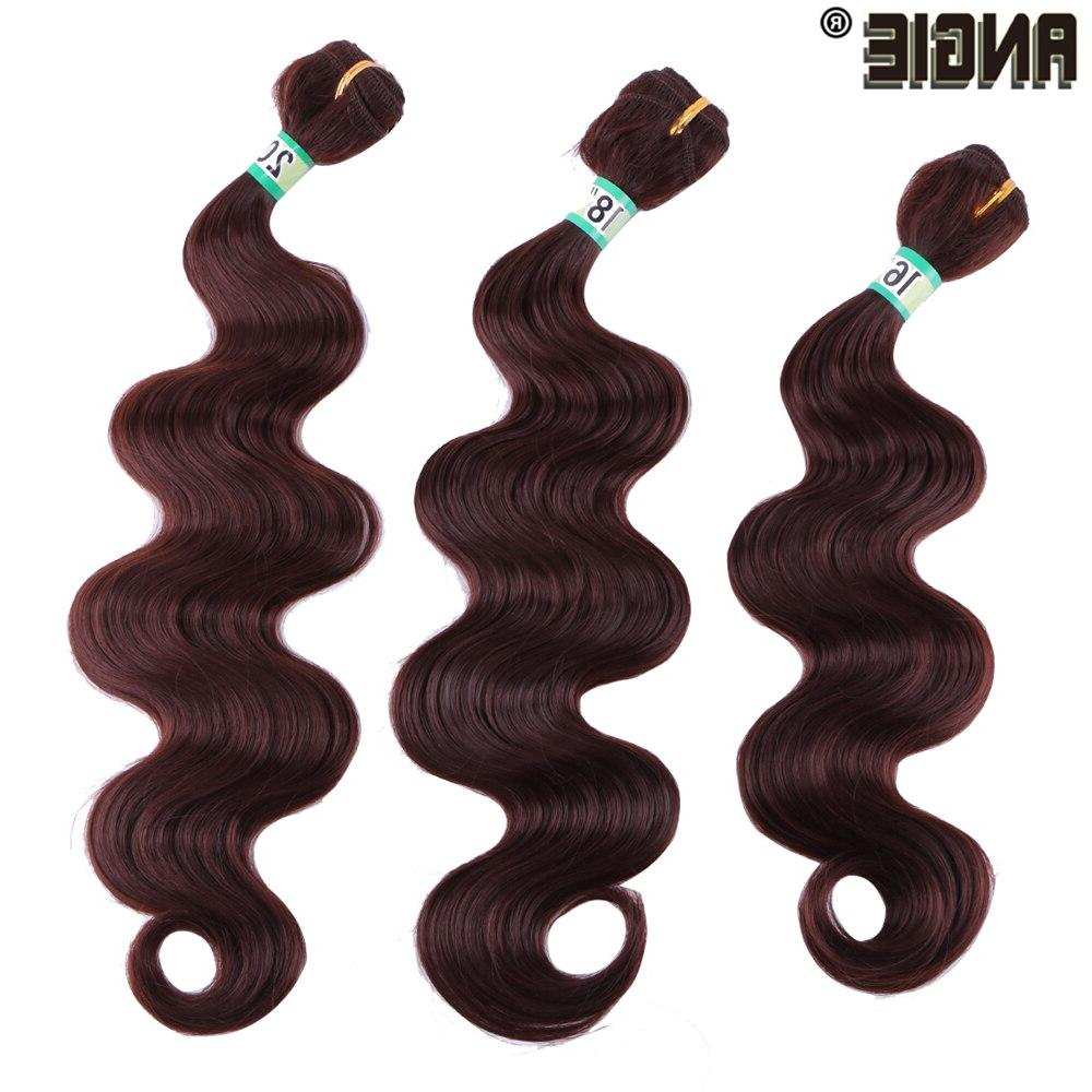 ANGIE Wave Bundles Weave 16 Wavy Synthetic Extensions For Women