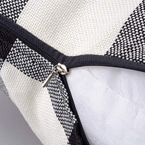 ANCIRS Buffalo Plaid Cover,18 x Classic Retro Checkered Cushion Removable Sofa Pillowcase 100% for Pillow