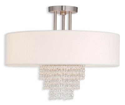 Livex Lighting Carlisle Brushed Nickel 18-Inch Four-Light Se