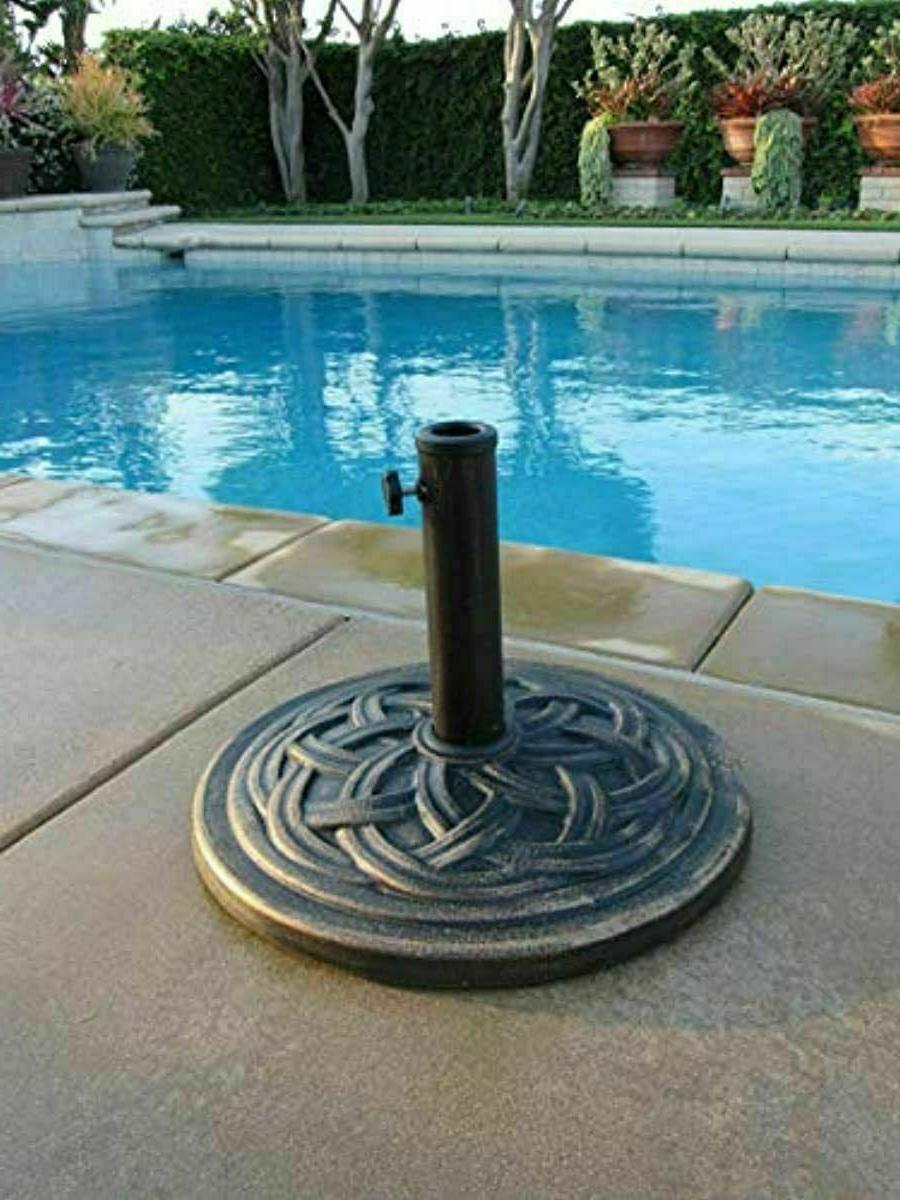cast stone umbrella base 18inch rust free