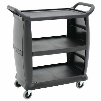 "Carlisle Utility Cart Silverware Holder Black Plastic - 11""L"