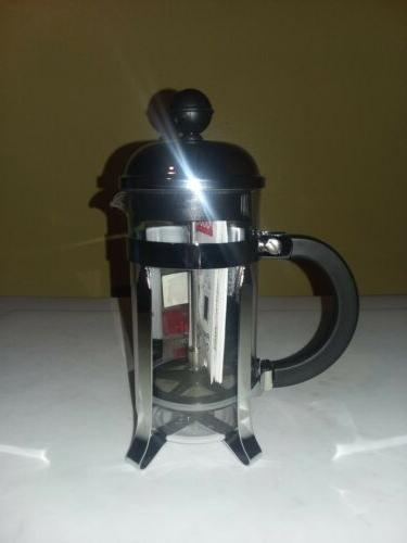BODUM CHAMBORD FRENCH PRESS 3 CUP COFFEE 0.35L BRAND NEW W/MEAS.