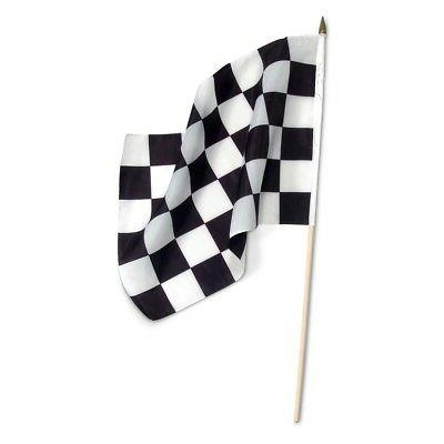 checkered 12 x 18 inch flag on