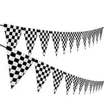 Adorox Checkered Racetrack Banner Racetrack 12pc Cones Supply