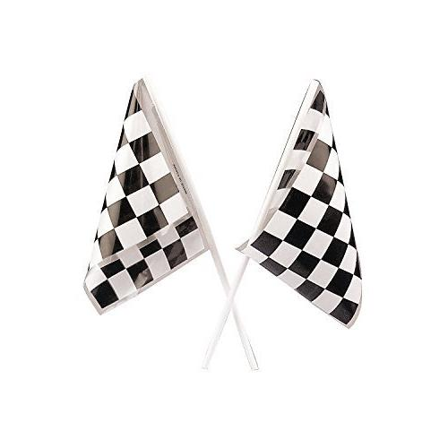 Adorox Racetrack Banner 1Pk Racetrack Runner & 12pc mini Flags Supply